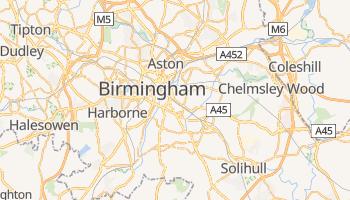 Carte en ligne de Birmingham
