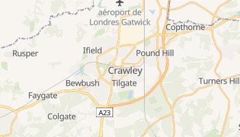 Carte en ligne de Crawley