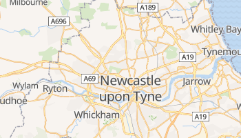 Carte en ligne de Newcastle-upon-Tyne