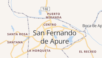 Carte en ligne de San Fernando de Apure