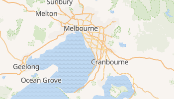 Mappa online di Melbourne