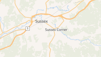 Mappa online di Sussex