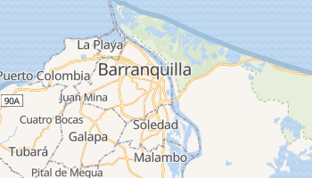 Mappa online di Barranquilla