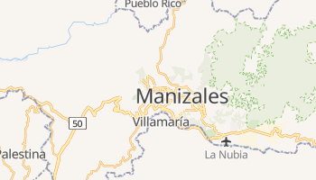 Mappa online di Manizales