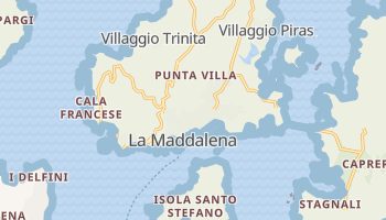 Mappa online di La Maddalena