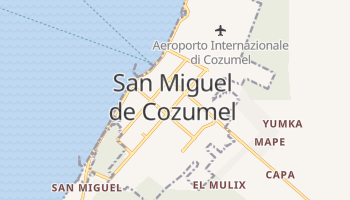 Mappa online di Cozumel