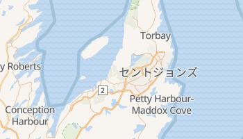 セントジョンズ の地図