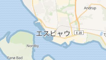 エスビャウ の地図