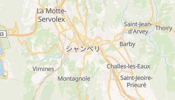 シャンベリ の地図
