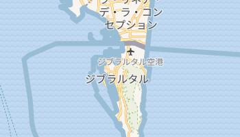 ジブラルタル の地図