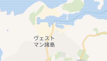 ヴェストマン諸島 の地図