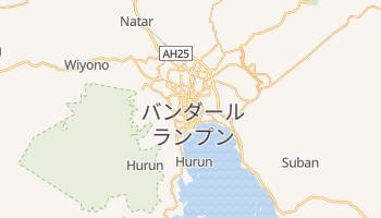 バンダールランプン の地図