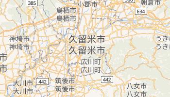 久留米市 の地図