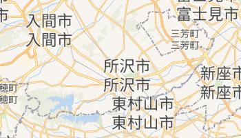 所沢市 の地図