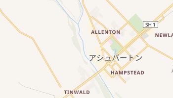 アシュバートン の地図