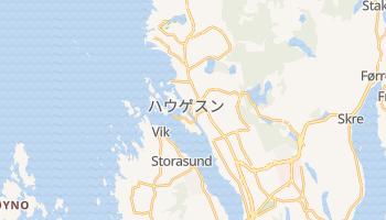 ハウゲスン の地図
