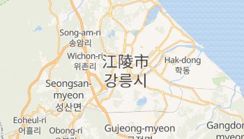 江陵市 の地図