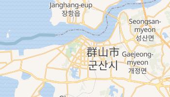 群山市 の地図