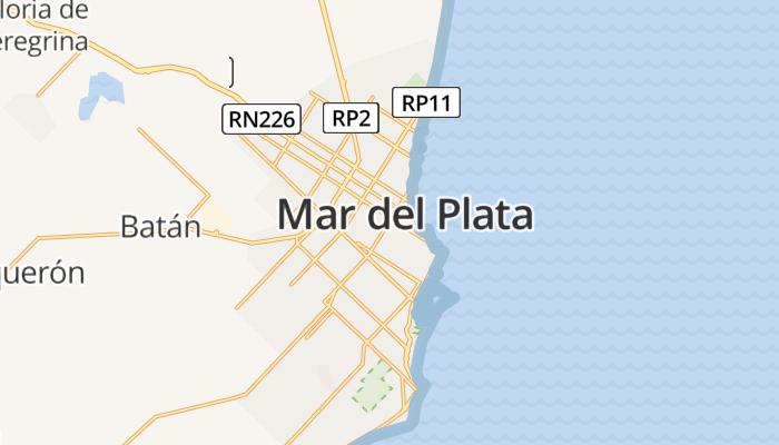 Mar del Plata online kaart