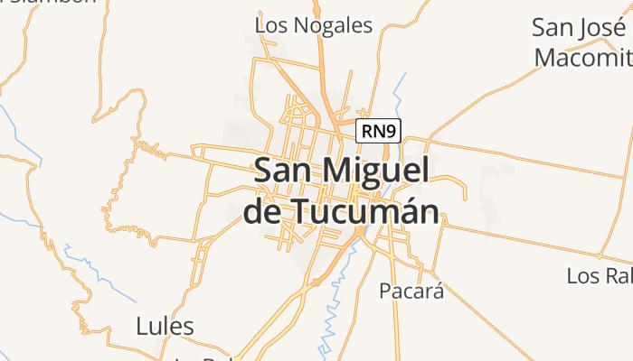 San Miguel de Tucumán online kaart