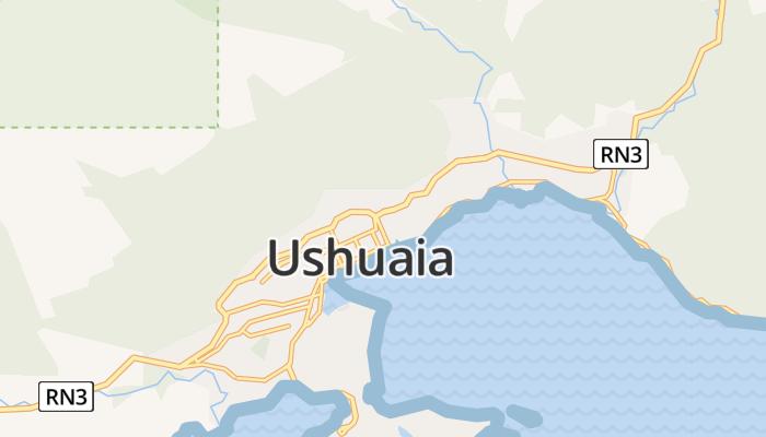 Ushuaia online kaart