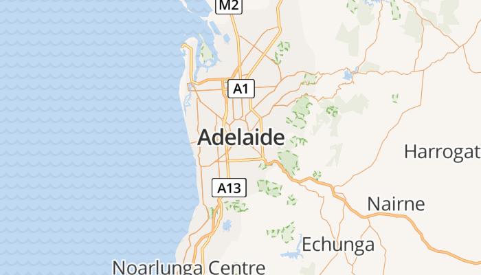 Adelaide online kaart