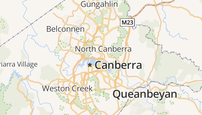 Canberra online kaart