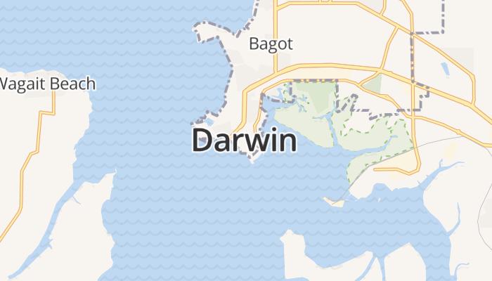 Darwin online kaart