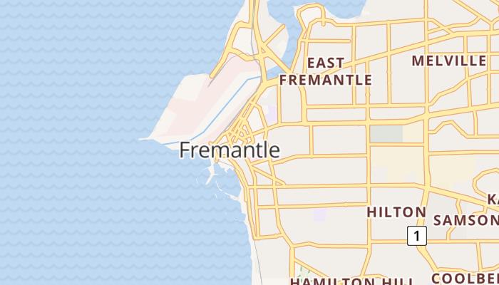 Fremantle online kaart