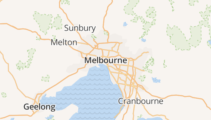 Melbourne online kaart