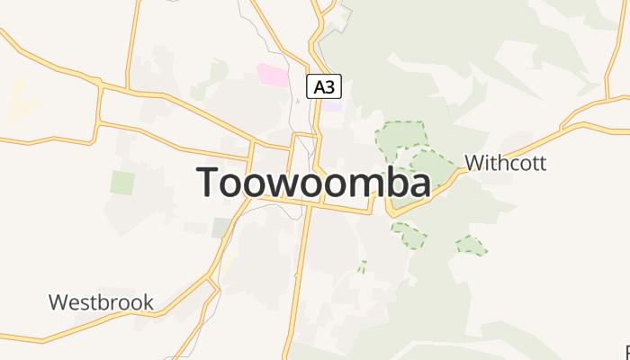 Toowoomba online kaart