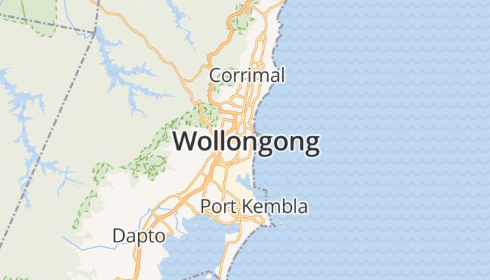 Wollongong online kaart