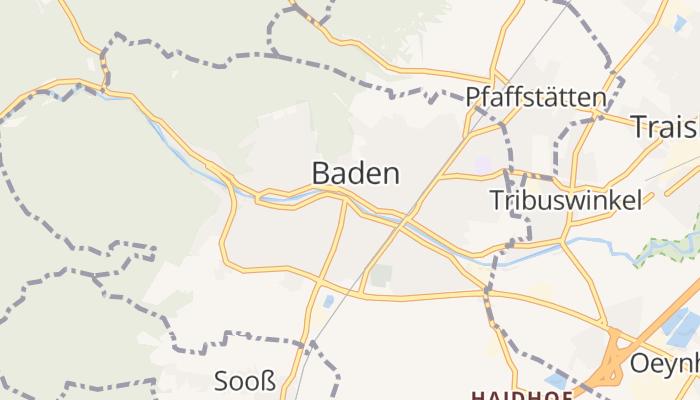 Baden bei Wien online kaart