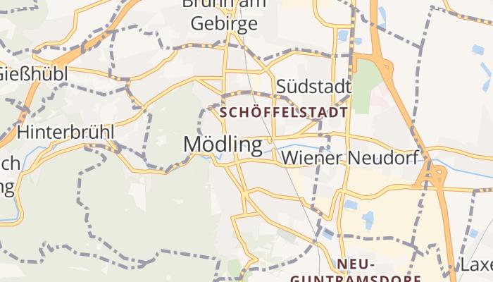 Mödling online kaart