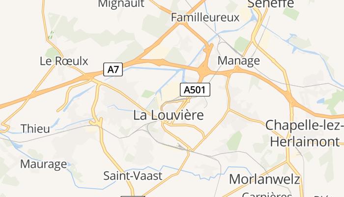La Louvière online kaart