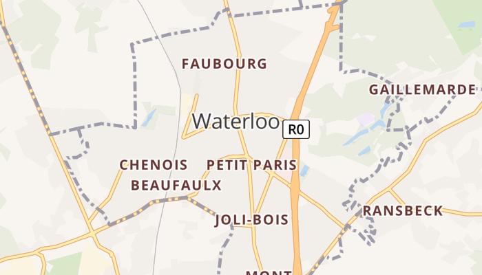 Waterloo online kaart