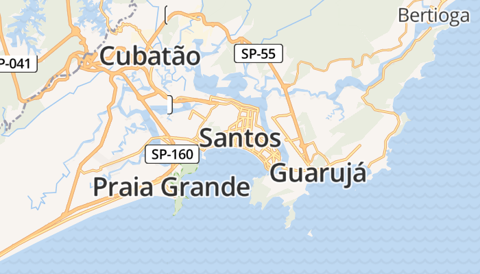 Santos online kaart