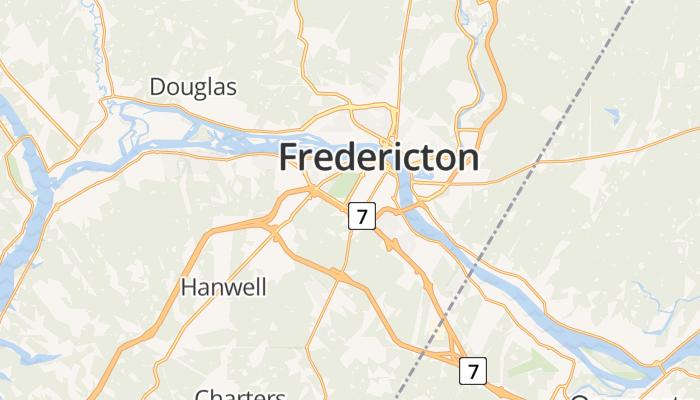 Fredericton online kaart