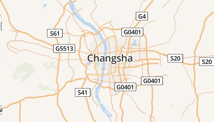 Changsha online kaart