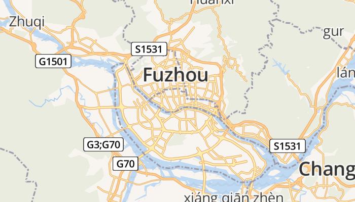 Fuzhou online kaart