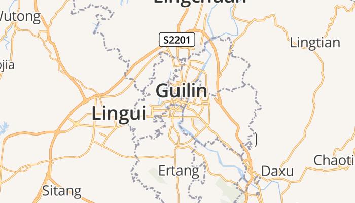 Guilin online kaart