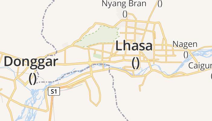 Lhasa online kaart