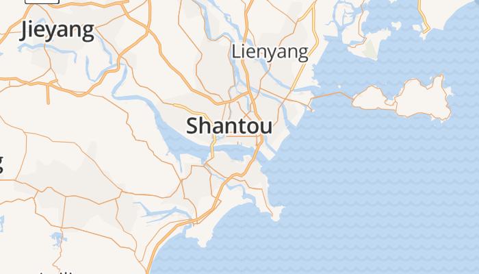 Shantou online kaart