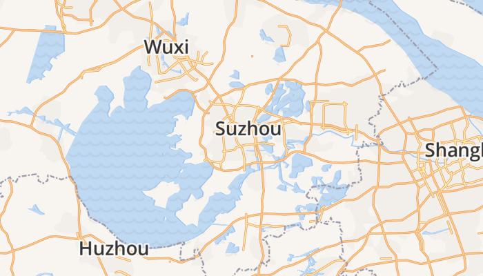 Suzhou online kaart