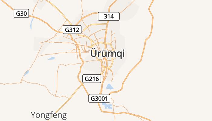 Ürümqi online kaart