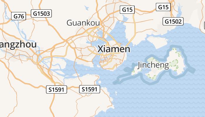 Xiamen online kaart