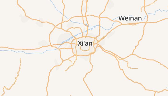 Xi'an online kaart
