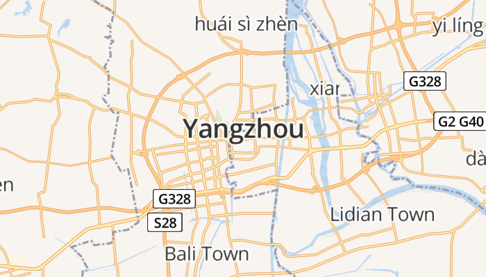 Yangzhou online kaart