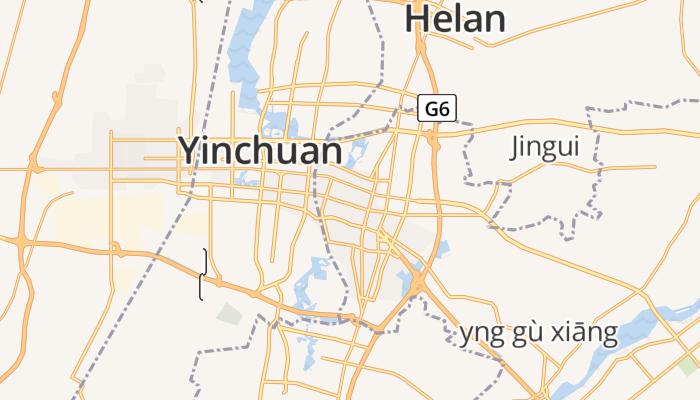 Yinchuan online kaart