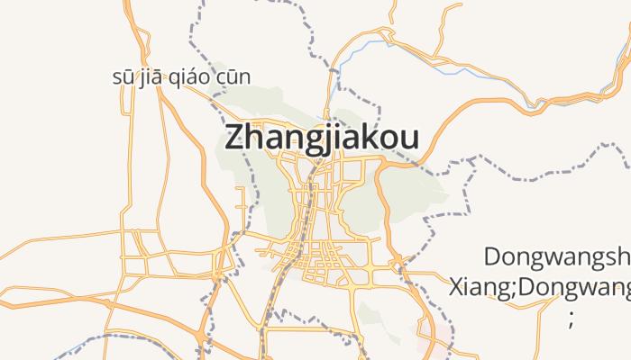Zhangjiakou online kaart